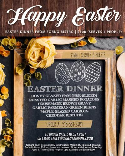Forno Bistro Easter Menu