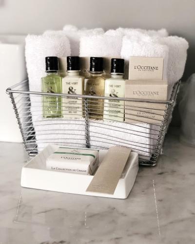 The James bath amenities
