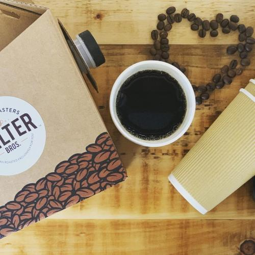 Photo of coffee and coffee beans from Salter Bros Coffee Roasters