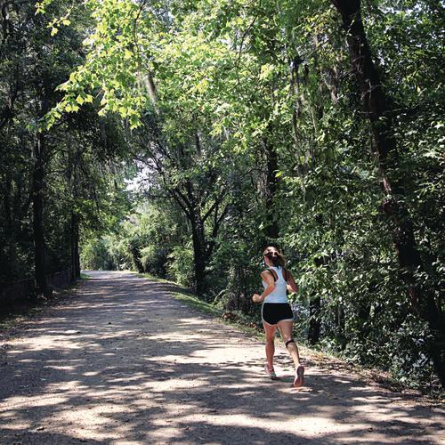 Running along the Augusta Canal