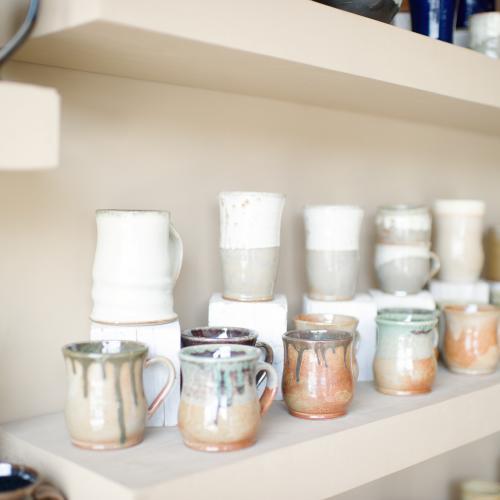 Pots on Shelves