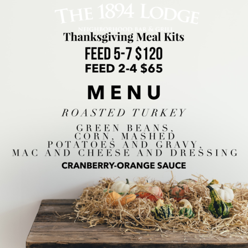 Thanksgiving meal kits from The 1894 Lodge