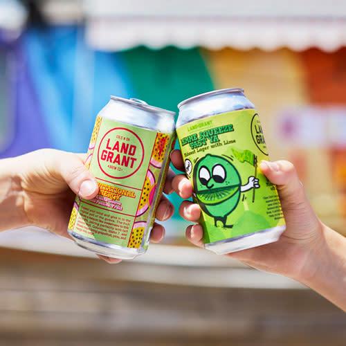 Cheersing Land-Grant beers