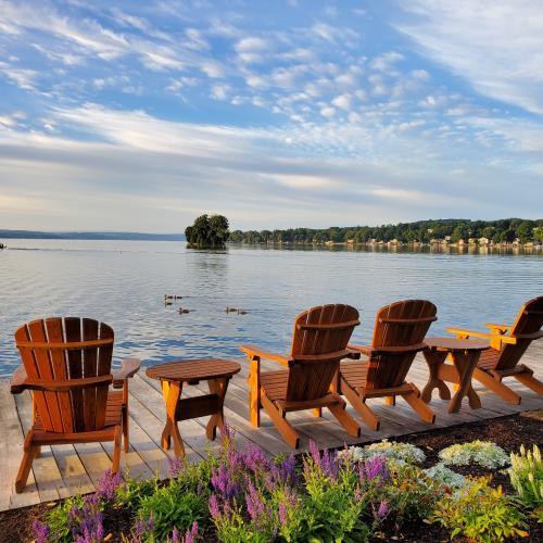 Lake-House-on-Canandaigua-Adirondack-chairs