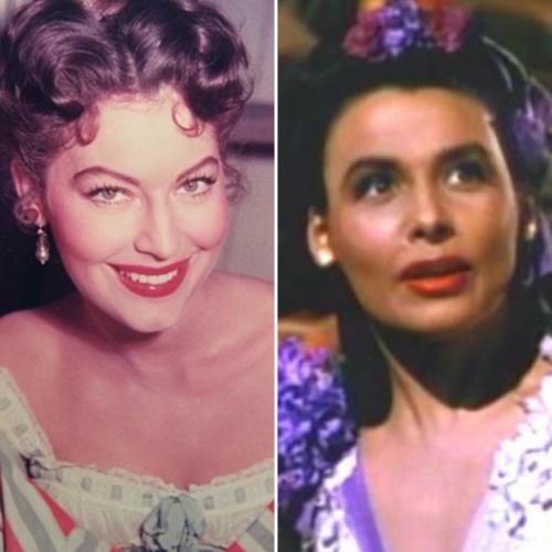 Side by side of Ava Gardner as Julie LaVerne and Lena Horne as Julie LaVerne.