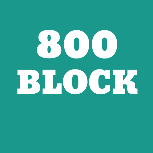 800 Block - East