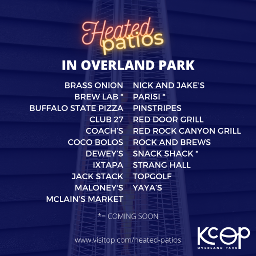 A List of Heated Patios in Overland Park
