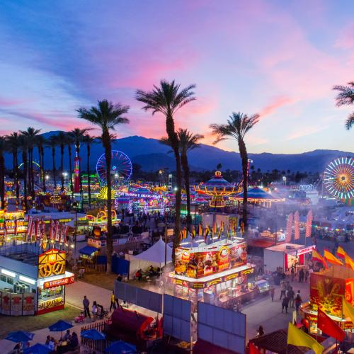 Aerial view of Riverside County Fair & Date Festival
