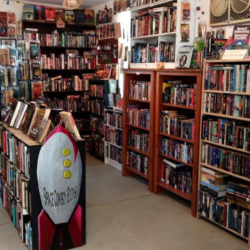 Interior of Space Cowboy Books in Joshua Tree
