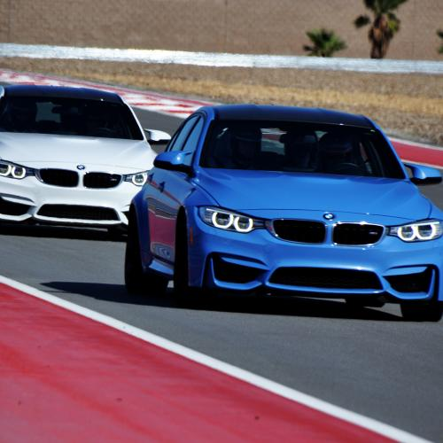 bmw driving school blue white cars thermal