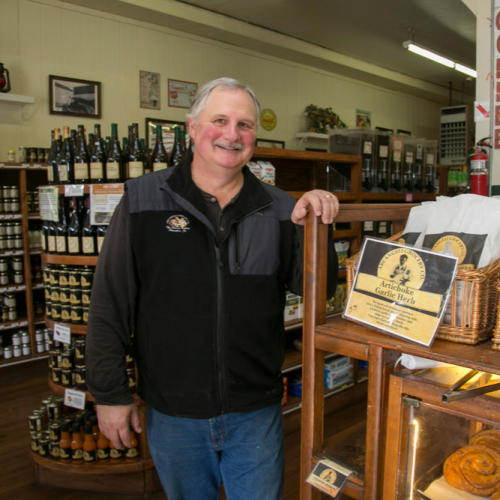 Portrait of Arcangeli Grocery Company Owner Mike Benedetti