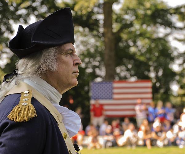 George Washington - American Flag