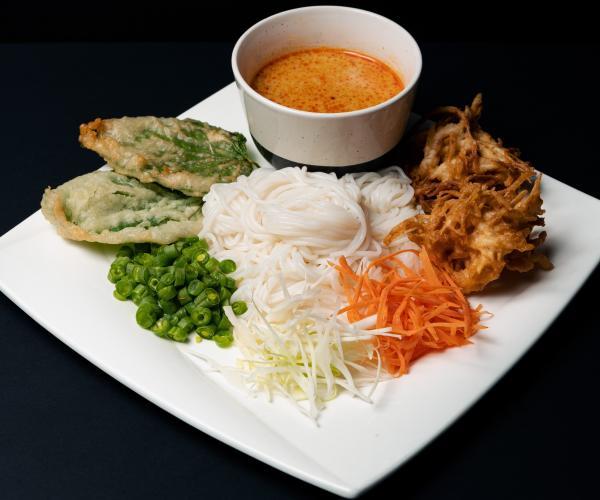 thai food on plate