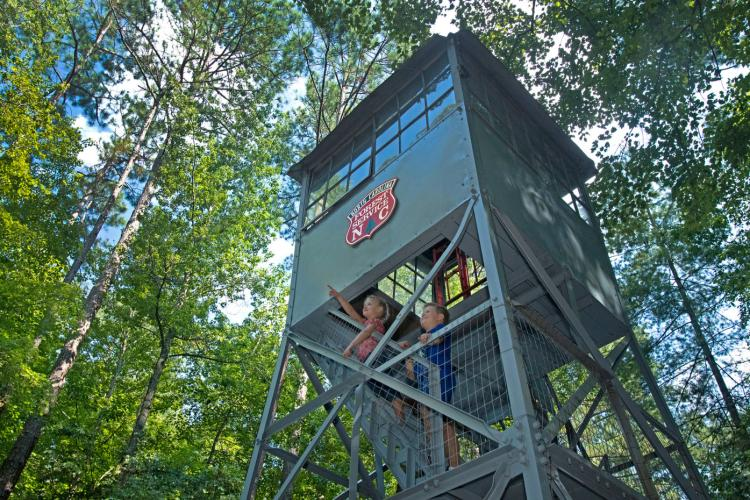 Clemmons Educational State Forest fire tower in Clayton, NC.