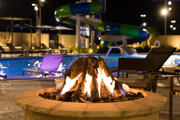 Delta Downs Fire Pit at the Pool