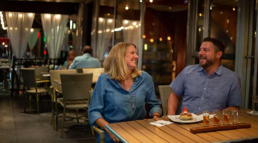 Stocks on Second Outdoor Dining Couple