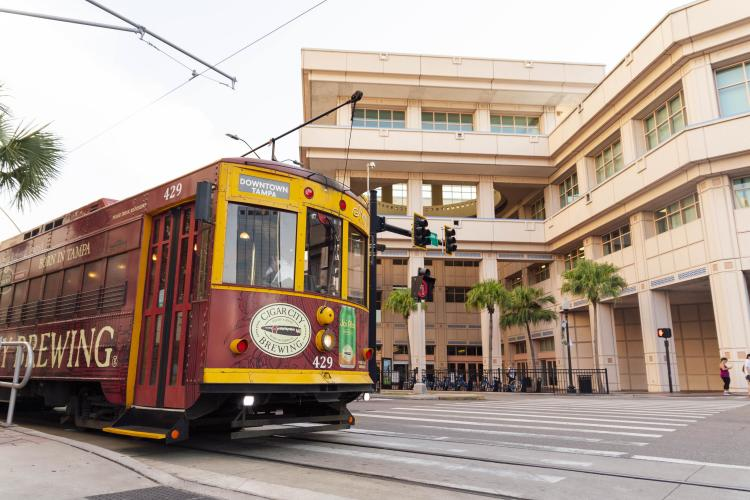 Tampa Convention Center and TECO Streetcar