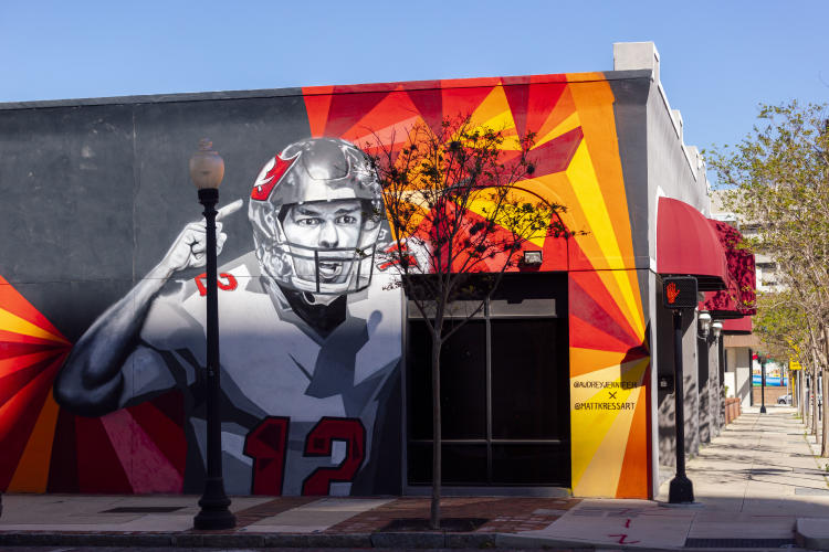 Ray Charles & Tom Brady Mural