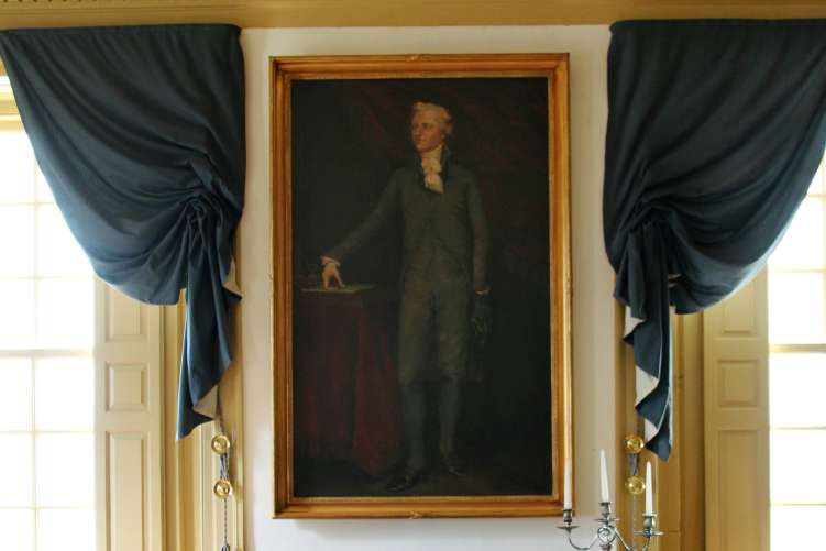 Hamilton painting at Schuyler Mansion