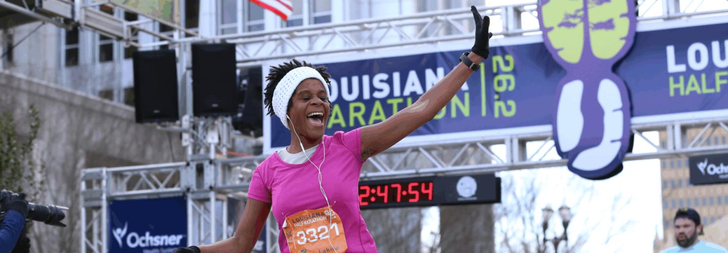Finish Line at the Louisiana Marathon