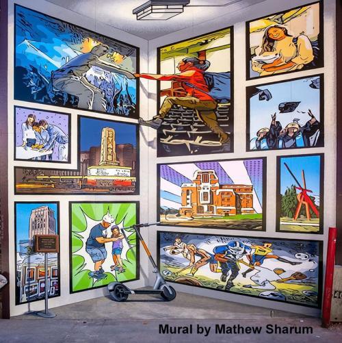 Mathew Sharum Mural in Ann Arbor
