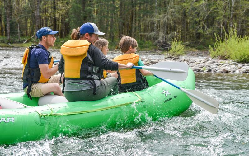 Whitewater Rafting the North Fork Willamette by Melanie Griffin