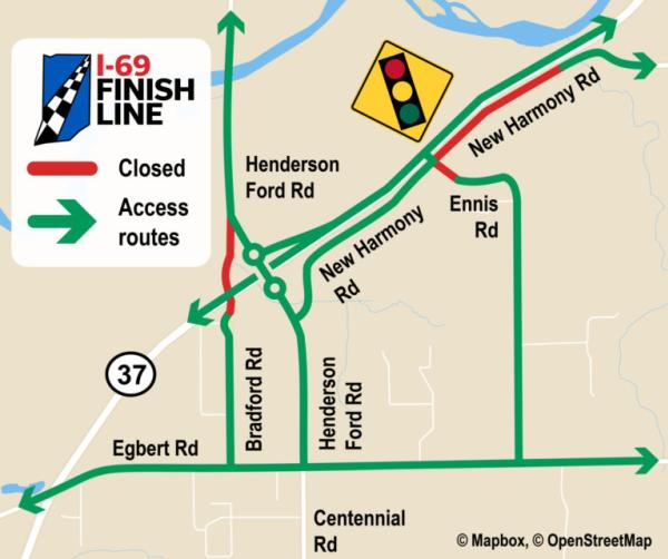 Traffic pattern changes to take effect near Henderson Ford Road beginning on or after Monday, September 13, 2021.