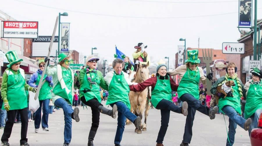 Saint Patrick's Day in Aggieville