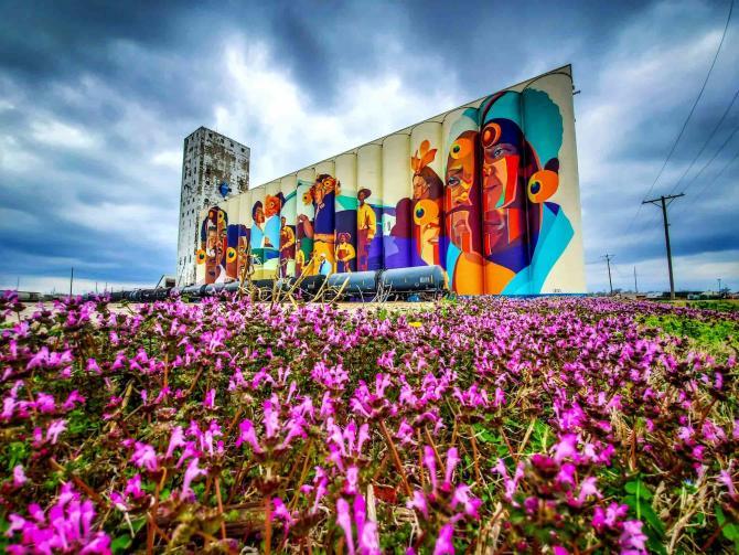 Horizontes Grain Elevator Mural
