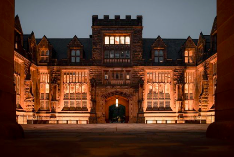Princeton University in the evening