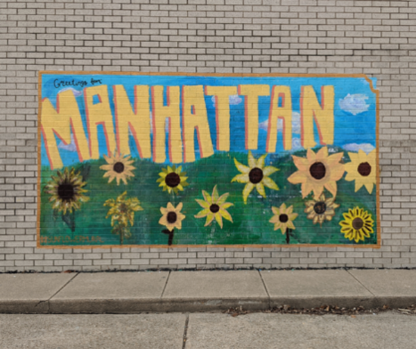 Sunflower Art Mural at Manhattan Arts Center