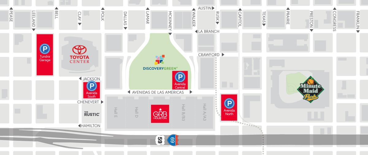 Avenida Houston Parking Map Slider