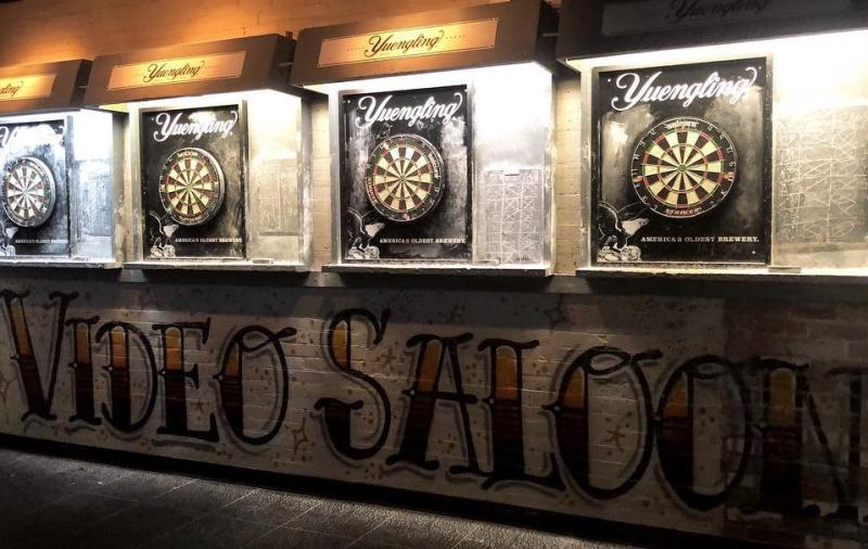 Dart boards at The Video Saloon