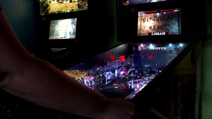 Stranger Things Pinball Machine at Game Changers