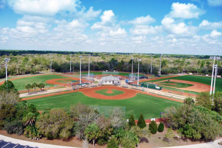 Aerial Shot of Centennial Park Baseball Fields