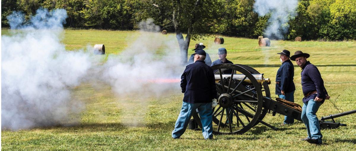 cannon-firing-at-wilsons-creek-national-battlefield-visit