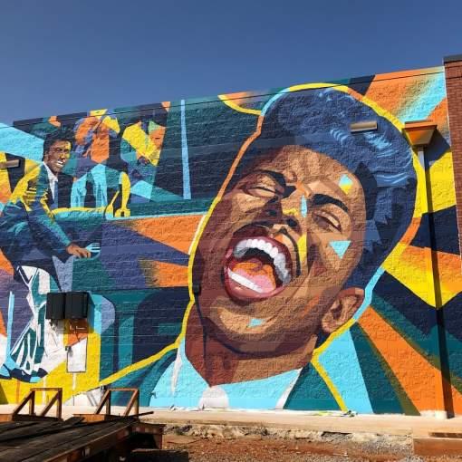 Little Richard Mural MidCity Logan Tanner