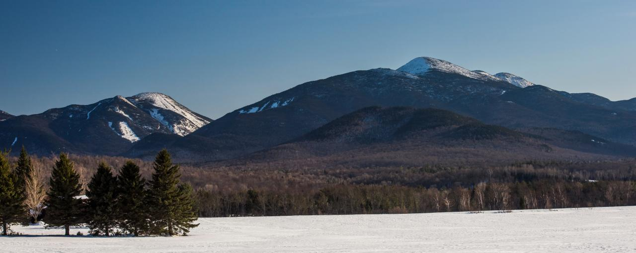 High Peaks Region of the Adirondacks from loj  Road outside Lake Placid