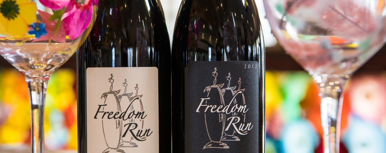 A photo of two bottles from Freedom Niagara