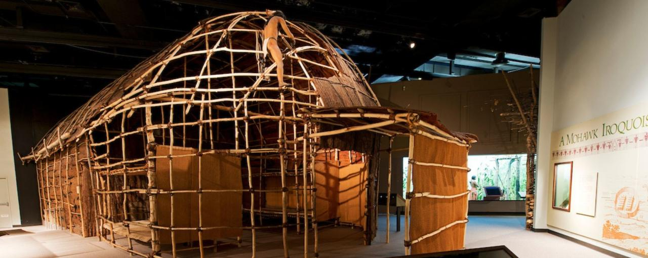 Longhouse at New York State Museum