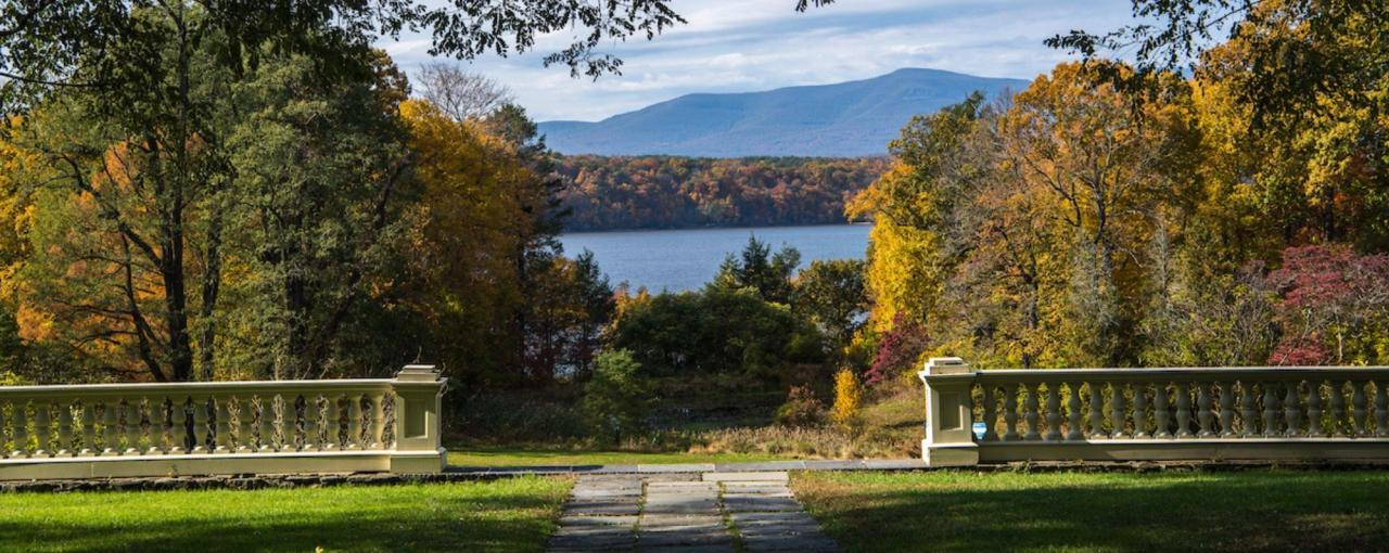 View of Hudson River from Montgomery Place