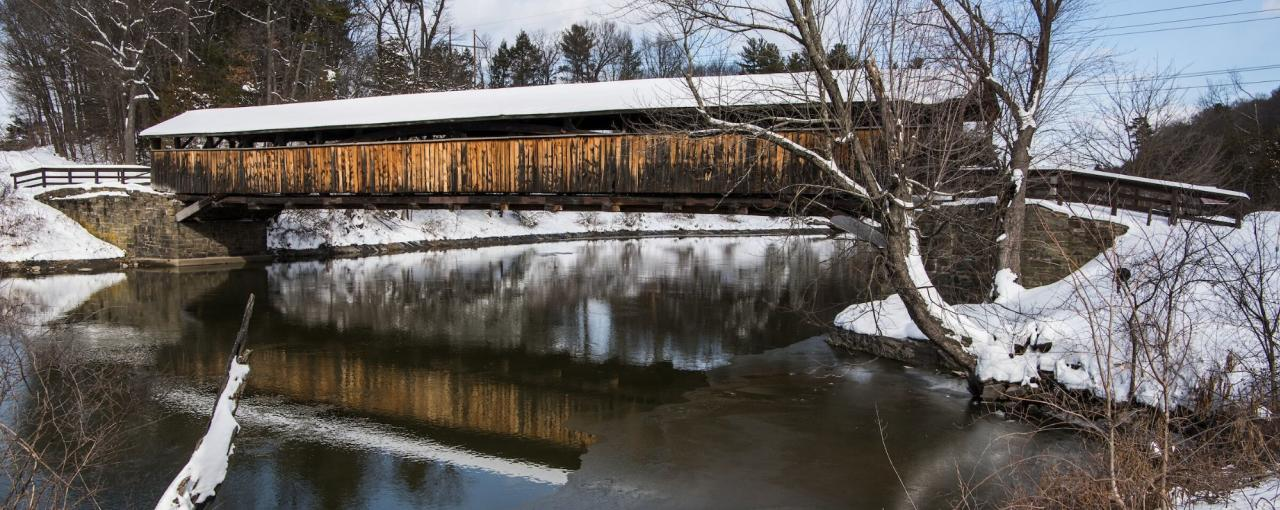 Petrine's Bridge over Wallkill River, New Paltz