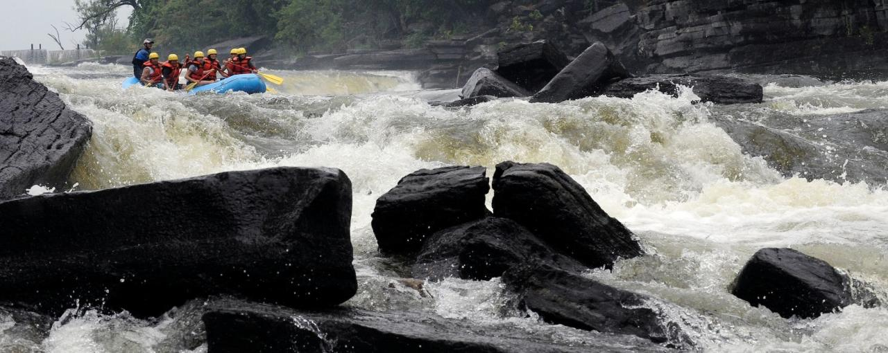 Whitewater rafting on the Black River