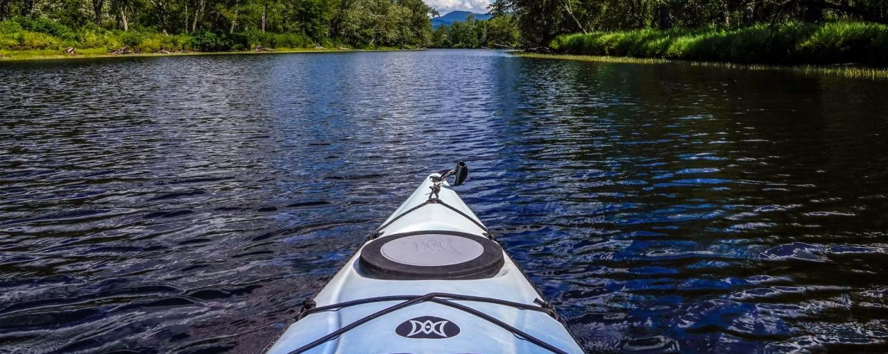 A kayaker's-eye view of kayaking on Raquette River