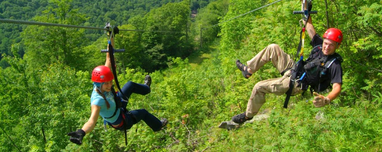 Zipline tour package - hunter mountain