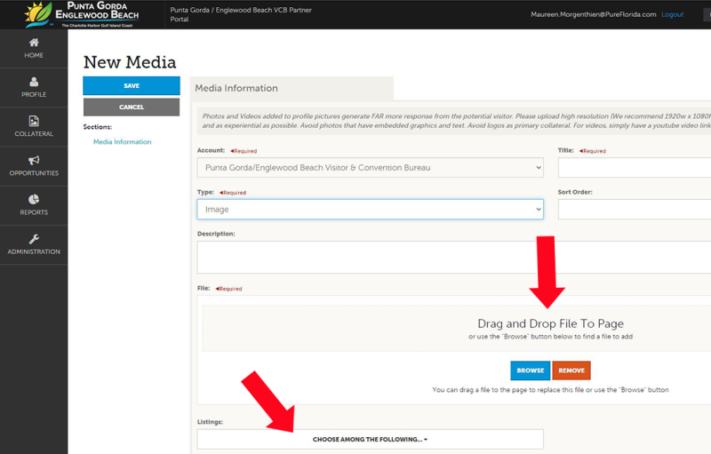 Adding Media to Your Account - Image 3