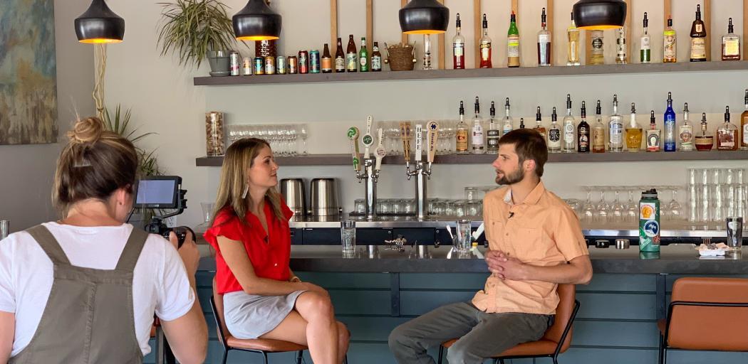 Host Locke Hughes interviews Chef Adam Ross