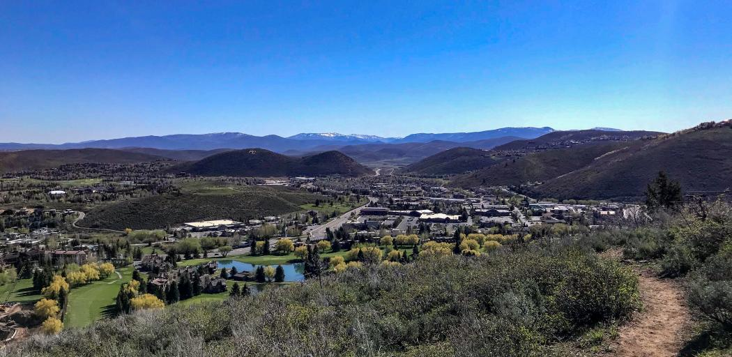 Scenic view of golf course and PC hill from Armstrong hiking trail