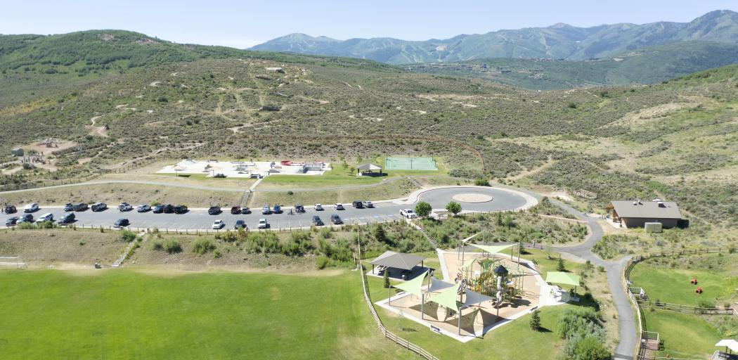 Aerial view of Trailside park