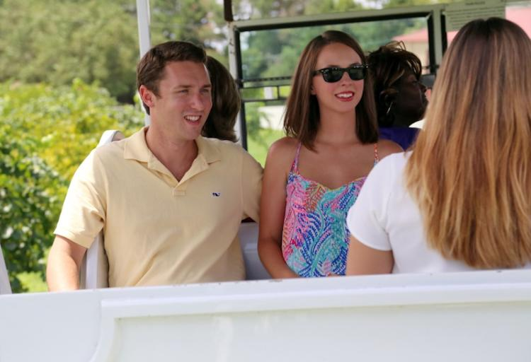 Couple Enjoys Gregory Vineyard Tour